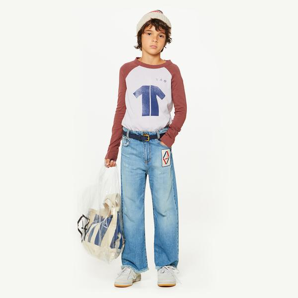 Girls & Boys Indigo Cotton Trousers