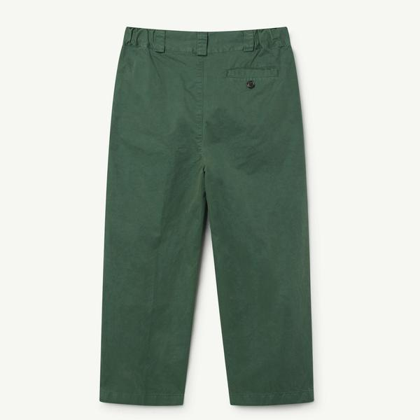 Girls & Boys Green White Bomar Cotton Trousers
