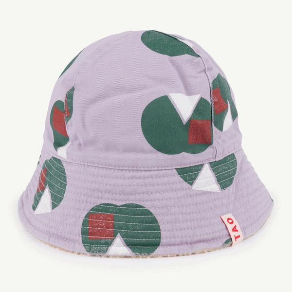 Girls & Boys Purple Apple Cotton Hat