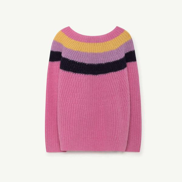 Girls Pink Stripes Sweaters