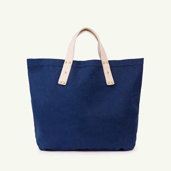 Girls Navy Blue Cotton Bag