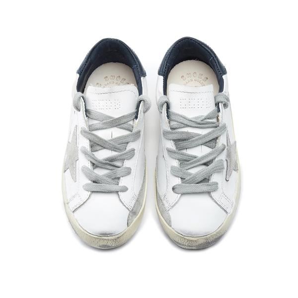 Boys & Girls White Star Leather Shoes