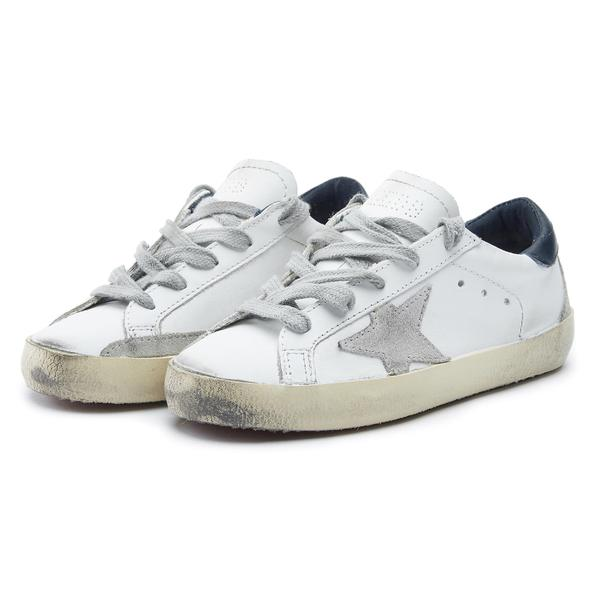 Baby Boys & Girls White Star Leather Shoes
