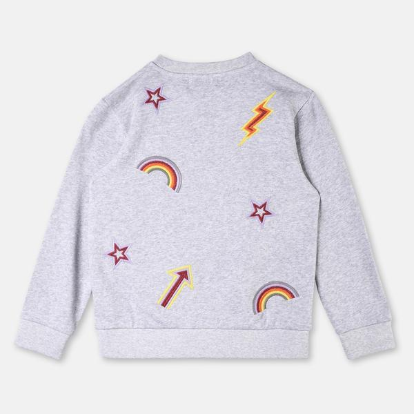 Girls Thunder Embroidered Sweatshirt