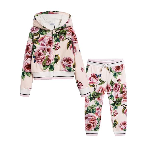 Girls Beige Rose Cotton Set