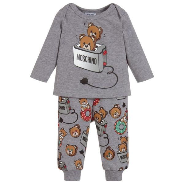 Boys & Girls Melange Grey Cotton Sets
