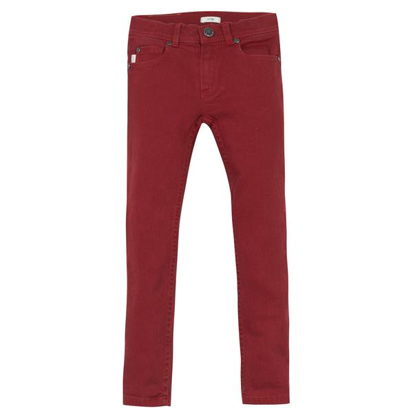 Boys Berry Red Denim Jersey Cotton Jeans - CÉMAROSE | Children's Fashion Store