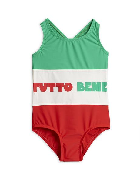 Girls Green & Red Swimsuit