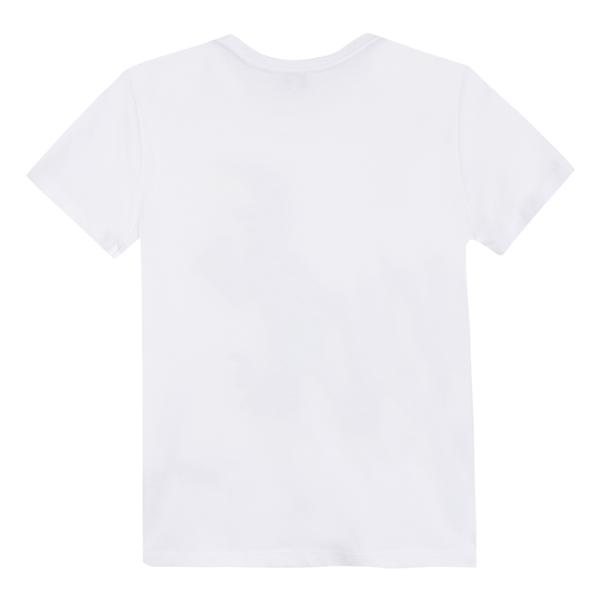 Boys White Dinosaur Cotton T-shirt