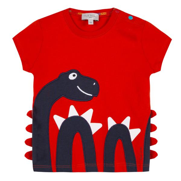 Baby Boys Red Snake Cotton T-shirt