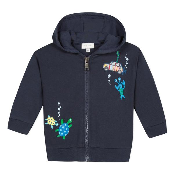 Baby Boys Dark Blue Cotton Coat