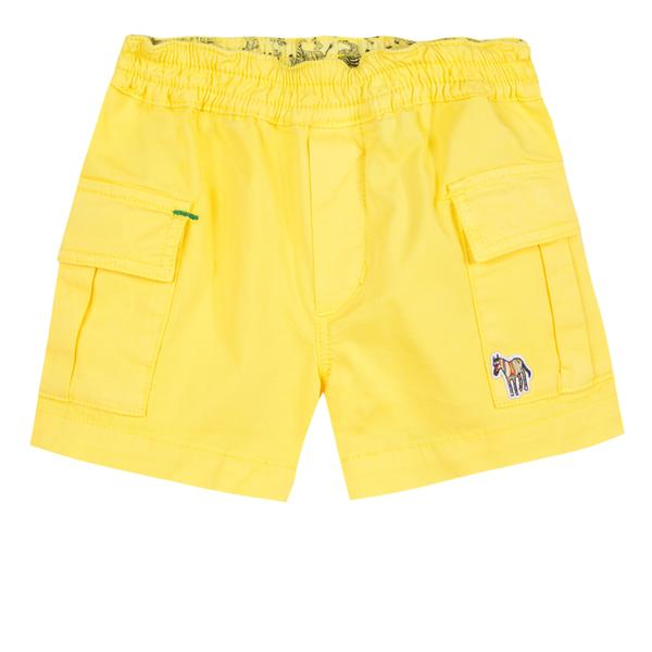 Baby Boys Yellow Cotton Shorts