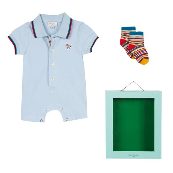 Baby Boys Light Blue Babysuit