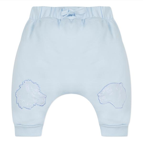 Baby Boys Light Blue Frill Cotton Trousers
