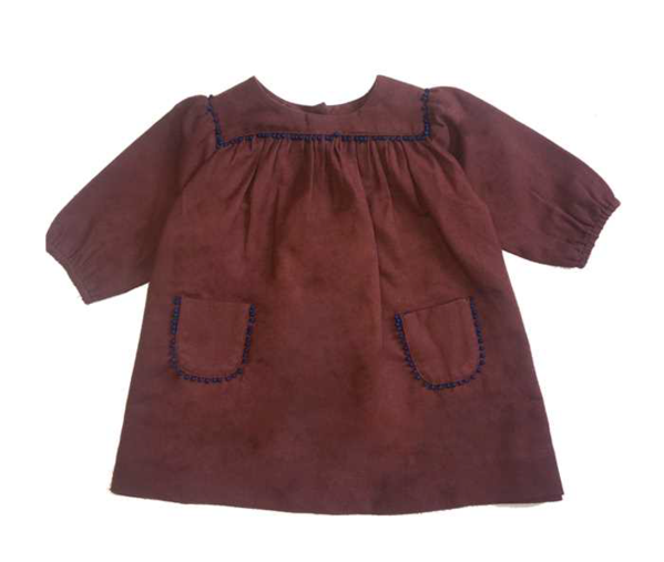 Baby Girls Chocolate Cotton Dress