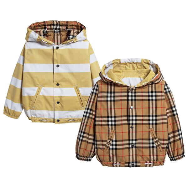 Baby Boys Larch Yellow & White Cotton Jacket