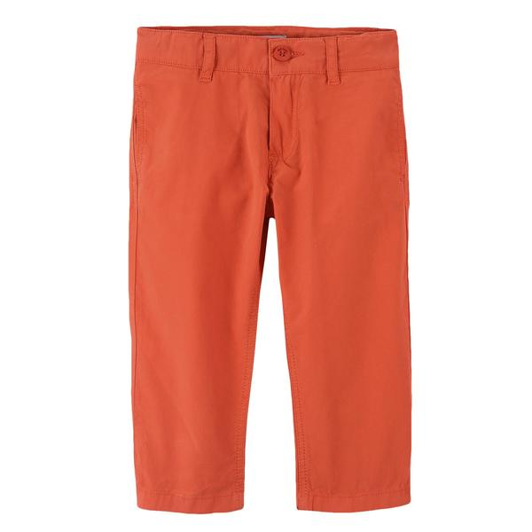 Boys Red Cotton Straight Cut Style Trousers - CÉMAROSE | Children's Fashion Store - 1