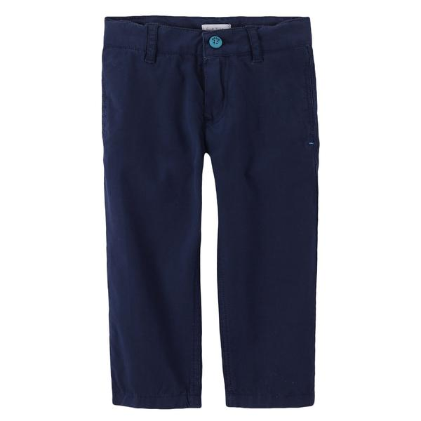 Boys Navy Blue Cotton Straight Cut Style Trousers - CÉMAROSE | Children's Fashion Store - 1