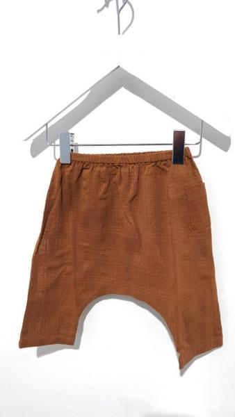 Baby Boys & Girls Camel Cotton Woven Trousers