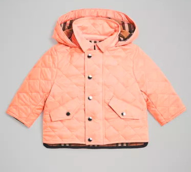 Baby Girls Apricot Pink Coat