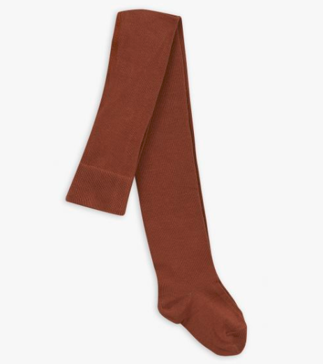 Girls Brown Organic Cotton Tights