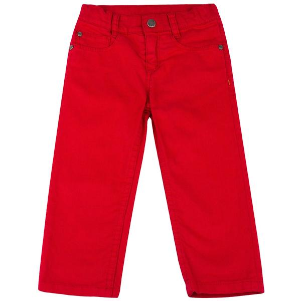 Baby Girls Red Trousers With A Leather Logo Patc - CÉMAROSE | Children's Fashion Store - 1