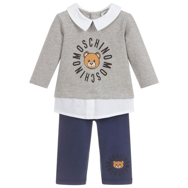 Baby Boys Grey & Blue Cotton Set