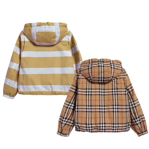 Boys Larch Yellow & White Cotton Jacket