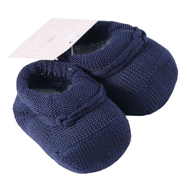 Baby Navy Blue Knitted Cotton Shoes - CÉMAROSE | Children's Fashion Store - 2