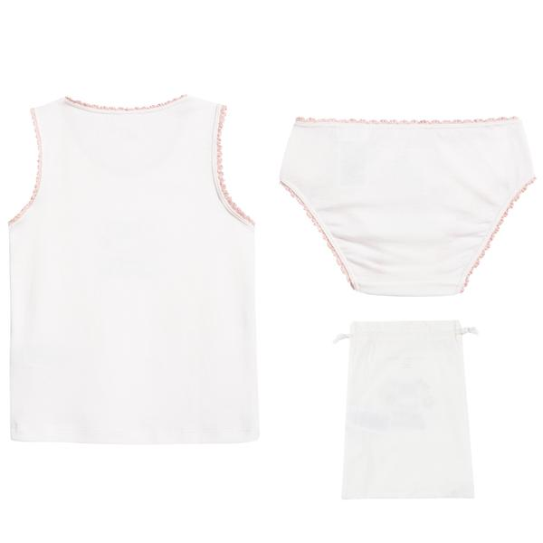 Girls White Anticipato Prim Set