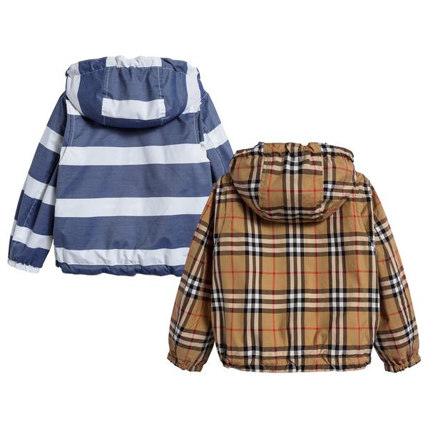 Boys Navy & White Cotton Jacket