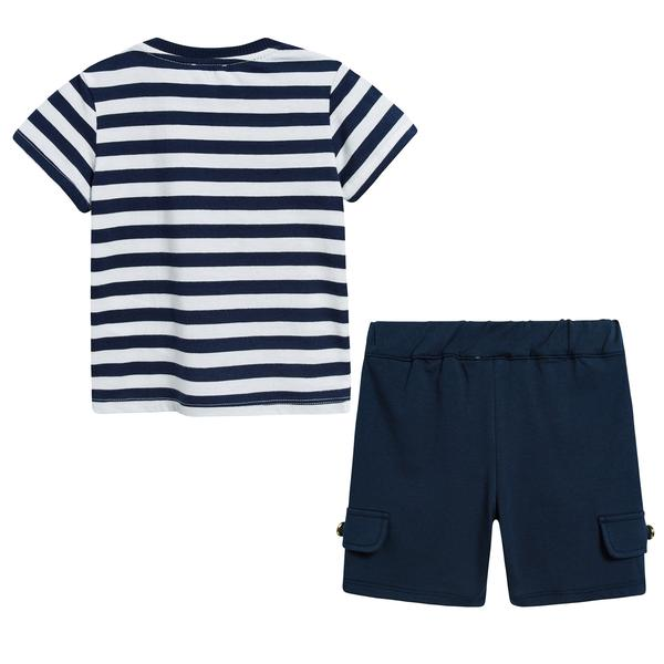 Baby Boys Blue Stripes Cotton Set