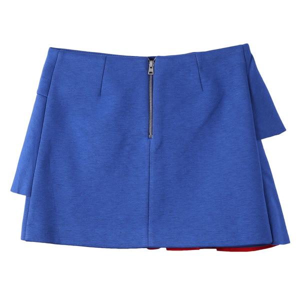 Girls Light Blue Flounces Neoprene Skirt - CÉMAROSE | Children's Fashion Store - 2