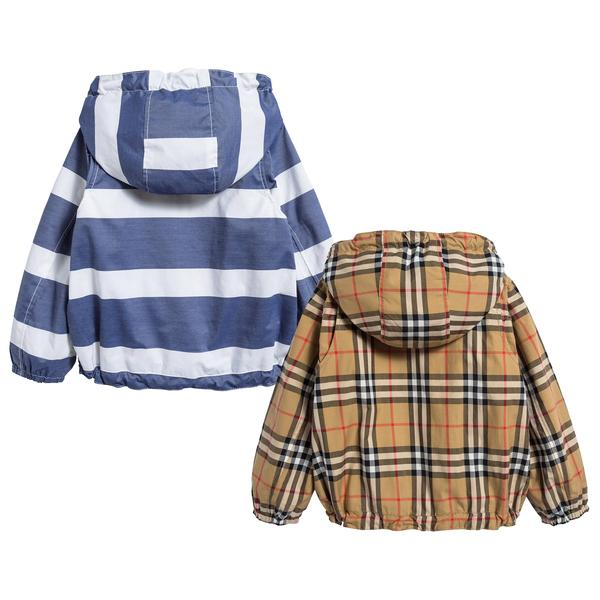 Baby Boys Navy & White Cotton Jacket