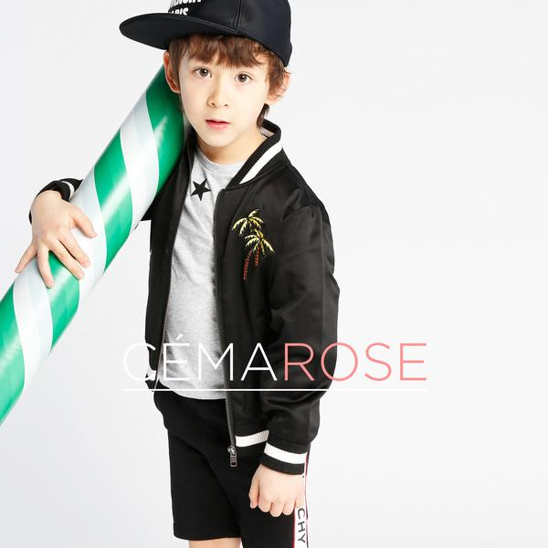 Boys Black Eastwood Bomber Jacket
