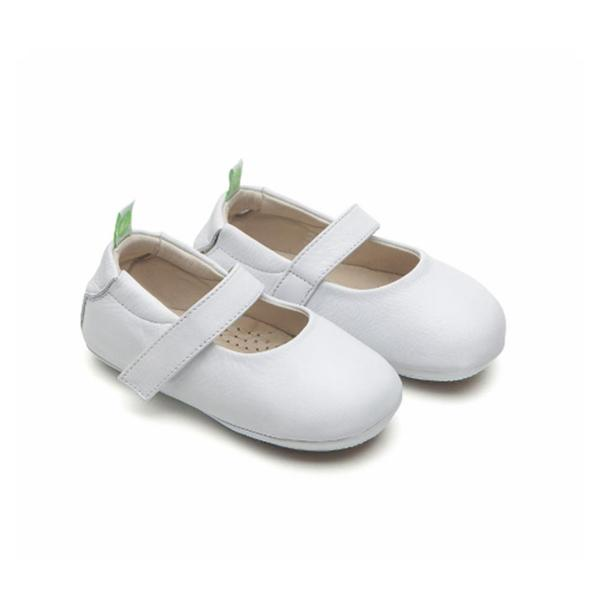 Baby Girls Antique White Leather Shoes
