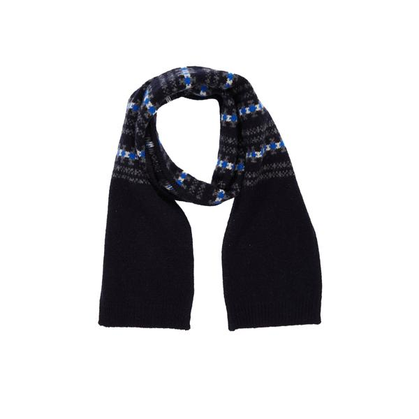 Boys & Girls Navy Extra Fine Merino Scarf