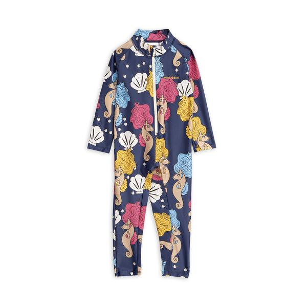 Baby Girls Navy Seahorse Jumpsuit