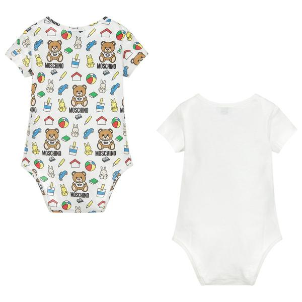 Baby Boys & Girls White & Toy Babysuits (2 Pack)