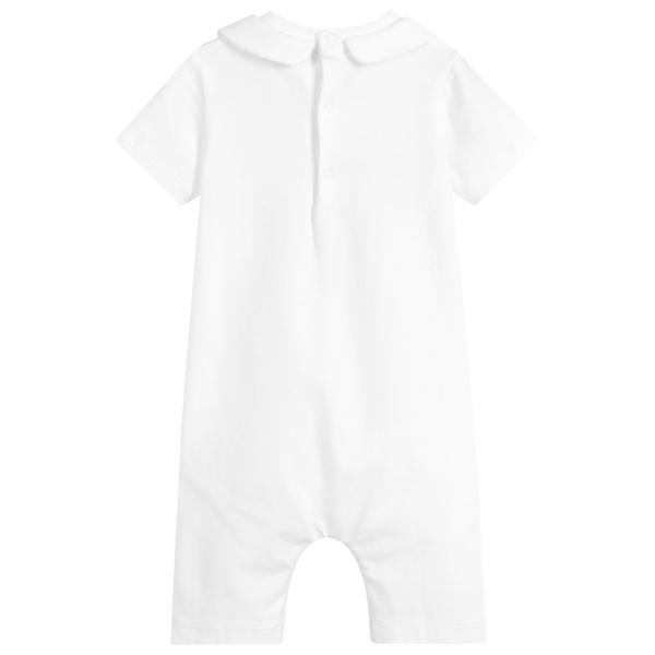 Baby Girls Ivory Teddy Cotton Rompers