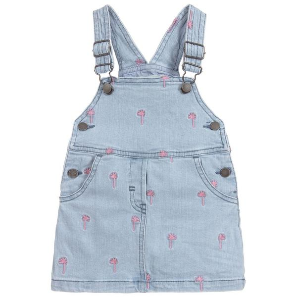 Baby Girls Blue Embroidered Dress