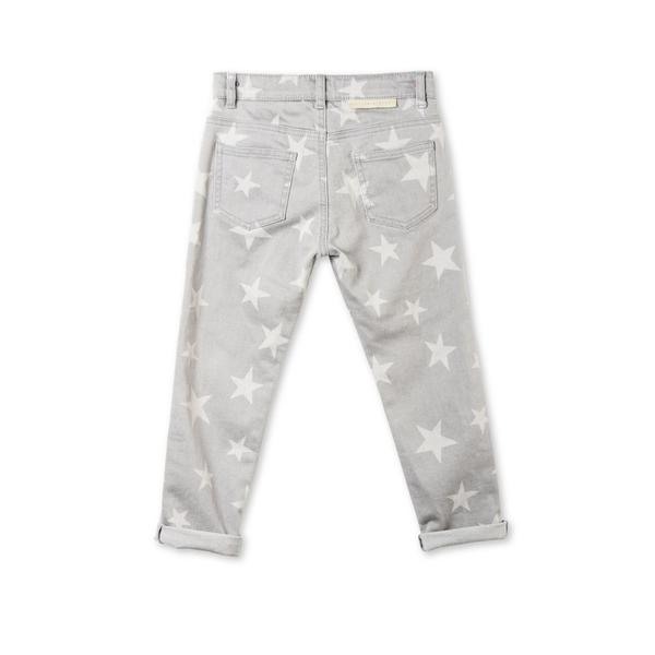 Grils Grey Denim Star Printed 'Lohan' Trouser - CÉMAROSE | Children's Fashion Store - 2