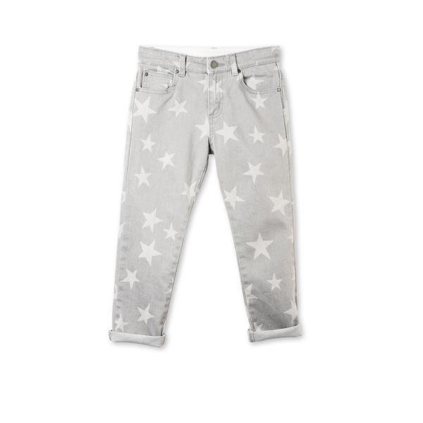 Grils Grey Denim Star Printed 'Lohan' Trouser - CÉMAROSE | Children's Fashion Store - 1