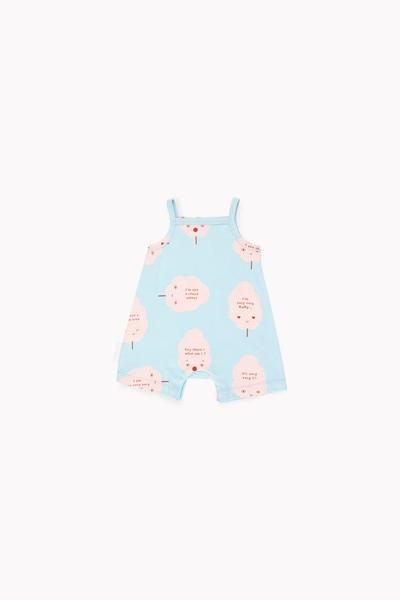 Baby Boys & Girls Light Blue Cotton Babysuits