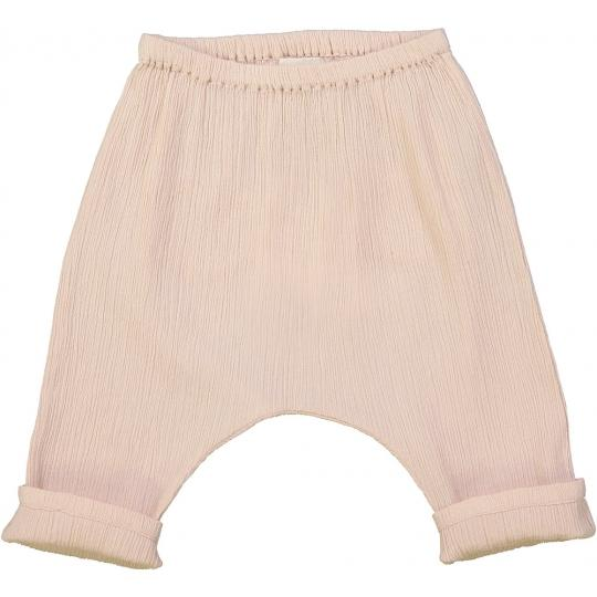 Baby Boys & Girls Pink Fold Cotton Trousers