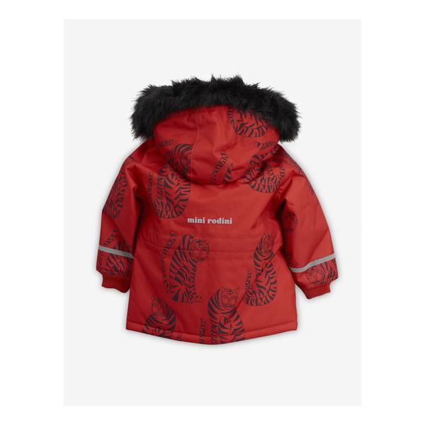 Boys & Girls Red Tiger Hooded Jacket