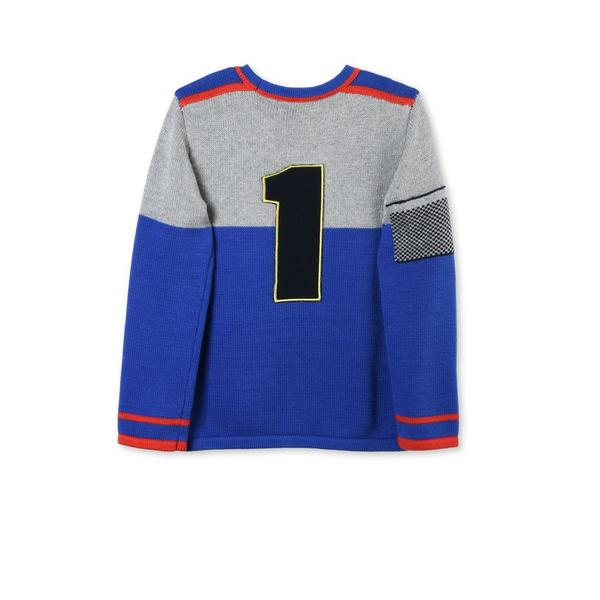 Boys Grey & Blue Mix Color 'Champ' Sweater - CÉMAROSE | Children's Fashion Store - 3
