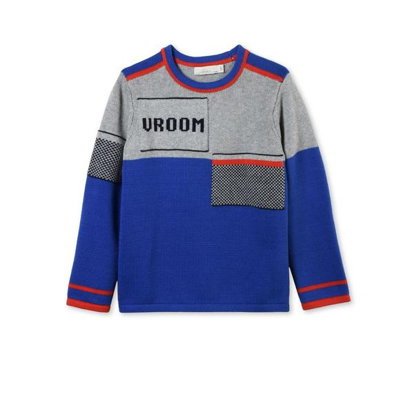 Boys Grey & Blue Mix Color 'Champ' Sweater - CÉMAROSE | Children's Fashion Store - 2