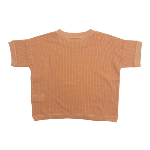 Baby Girls Coral Pink Cotton T-shirt