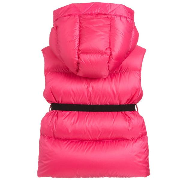 Girls Pink Padded Down Gilet